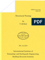 IISEE Mukai Structural Testing 2010