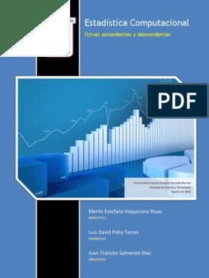 Estadística Ojivas Ascendentes Y Descendentes Gráfico