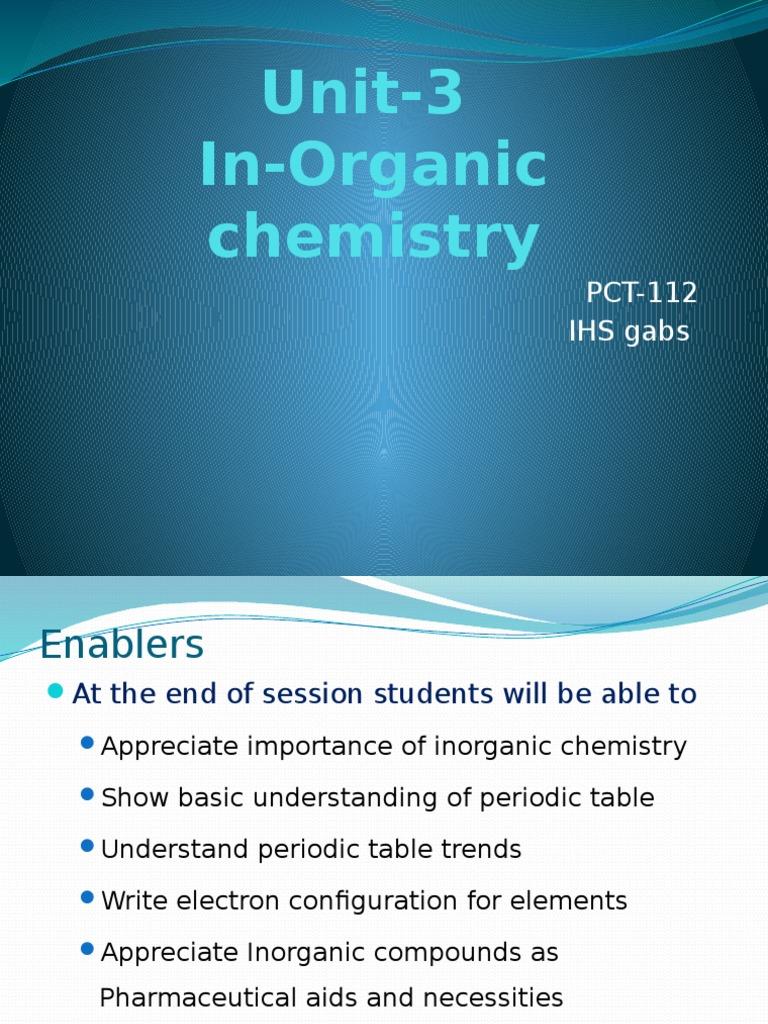 Unit 3 inorganicpptx periodic table electron configuration gamestrikefo Choice Image