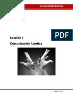 LECCIÓN 4 Comunicacion Asertiva