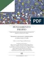 LAVALLE, Adrian Gurza. Participación, Representación y Ciudadanía Política. 2014