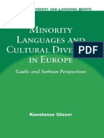 Minority Languages and Cultural Diversity in Europe - Gaelic and Sorbian Perspectives