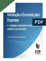 Introdução a Economia - Seção 4 - Vantagem Comparativa e Excedentes Do Produtor e Do Consumidor