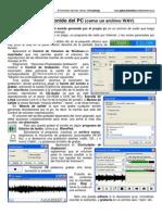 Grabar Sonido PC Como Archivo Wav