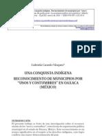 Usos y Costumbres Oaxaca. Conquista Indigena