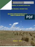Boletin Agrometeorológico Octubre 2014 Región Puno