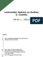 Dominador Aytona vs Andres v Castillo