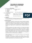 Sílabo Historia de La Iglesia III