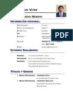 Currículum Nuevo Civil