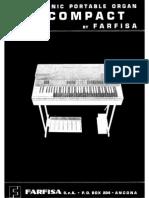 Farfisa Combo Compact Electronic Organ Service Manual