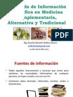 Búsqueda de Información en Medicina Complementaria 01-2015