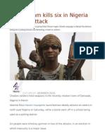 Boko Haram Kills Six in Nigeria Election Attack