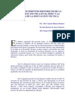 ANTECEDENTES HISTORICOS DE LA EDUCACION TECNICA EN EL PERU Y LA SEMANA DE LA EDUCACION TECNICA.docx