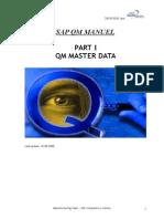 QM Training -1- Master Data Manual