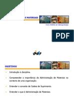 Aula 02 MAT - Introducao a Administracao de Materiais