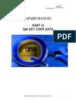 QM Training -2- Key User Manual