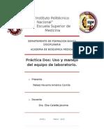 Práctica Dos Uso y Manejo Del Equipo de Laboratorio.