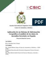 Aplicacion de Un Sig Al Analisis de Datos de Insendios Forestales