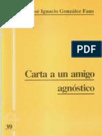 CJ 39, Carta a Un Amigo - José Ignacio González Faus, SJ