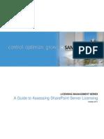 Assessing SharePoint Server Licensing