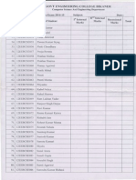 Mark list