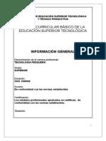 Plan Curricular Tecnologia Pesquera