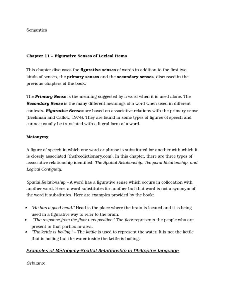 Figures Of Speech In Bisaya Idiom Word