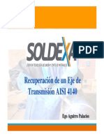Recuperacion de Un Eje AISI 4140 Presentación Bolivia - Expositor Ego Aguirre Palacios