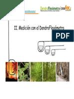 Dendroflexometro Manual, Principios y Plantillas