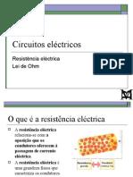FM3 - 4 - Circuitos electrícos - R e Lei de Ohm