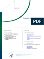 Female Reproductive Cancers Fact Sheet