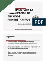 Principios para la organización de archivos administrativos