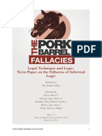 Logic - The Pork Barrel Fallacies