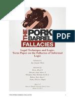 Logic - The Pork Barrel Fallacies