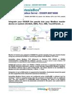 IntesisBox Modbus Server ESSER Datasheet Eng