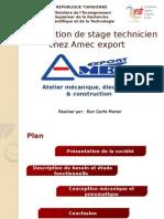 Présentation de Stage Technicien Chez Amec Export