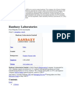 Ranbaxy Pharmaceuticals, Inc. (RPI) is in A