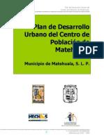 Plan de Desarrollo Urbano matehuala