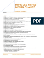 Index Numeros fiches de conversations