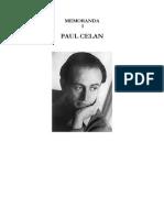 Memoranda i Paul Celan2