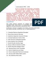 parlamento Licenciatura  2014