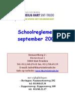 Schoolreglement 2009 - Heilig Hart - Sint-Trudo
