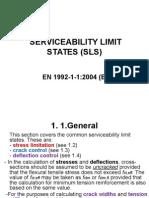 Serviceability Limit States (Sls)