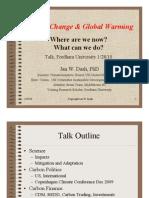 Fordham Talk Climate Change & Global Warming 2010 DASH Final