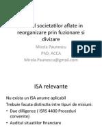 Auditul Societatilor Aflate in Reorganizare Prin Fuzionare Si
