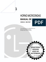 Instrucciones Horno Microondas LG MS-0746T
