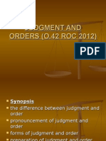 Judgment & Order