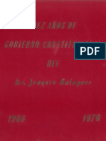 Diez Años de Gobierno Constitucional del Dr. Joaquín Balaguer 1966-1976, Tomo I