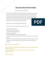 Evaluación de Proyectos de Inversión