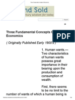 Three Fundamental Concepts of Economics